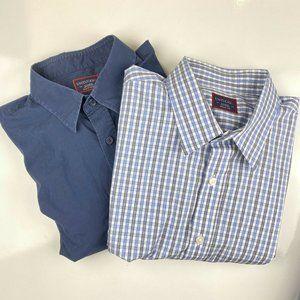 UNTUCKit Lot (2) Mens XL Fits Large L/S Shirts